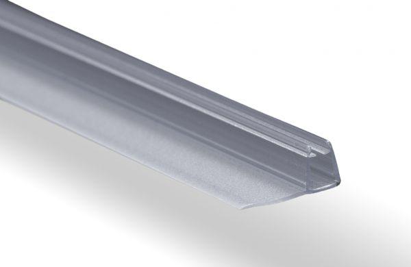 #2205 Mitteldichtung mit 90° Dichtlippe 20mm, passend für 6-8mm Glasstärke, transparent, Länge 2 met