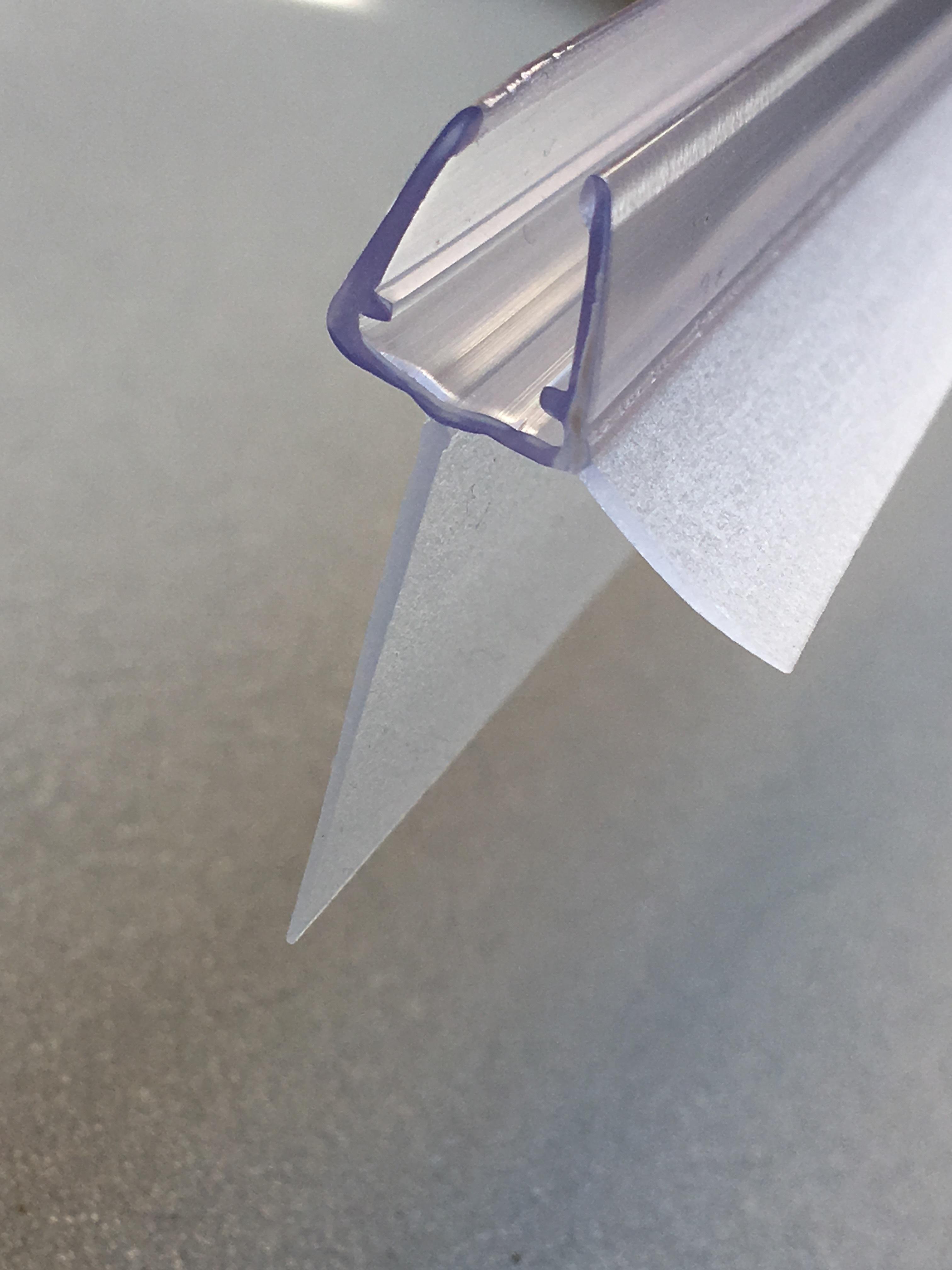 1003 2 wasserablaufprofil mit verl ngertem dichtkeder 25mm f r 6 8 mm glas 2 st ck 1meter. Black Bedroom Furniture Sets. Home Design Ideas