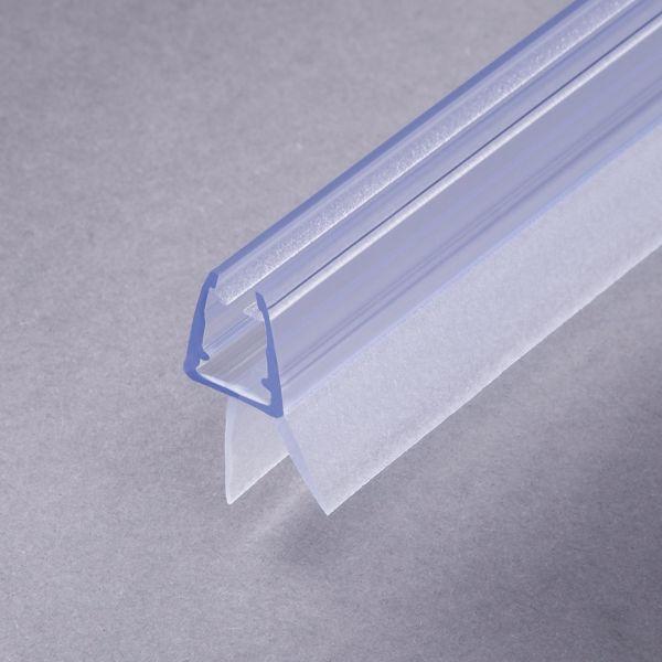 #1001-2 Wasserablaufprofil mit Dichtkeder für 6+8 mm Glas, 1Meter, transparent, 2 Stück