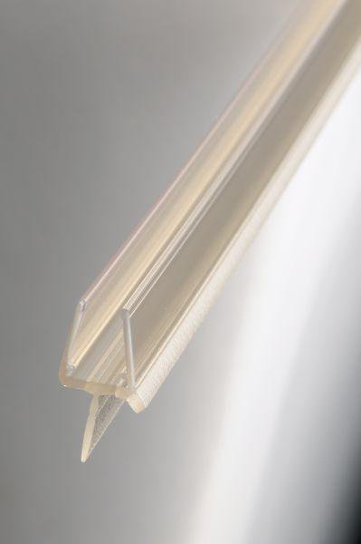 #1002 Wasserablaufprofil mit Dichtkeder für 6+8 mm Glas, 1Meter