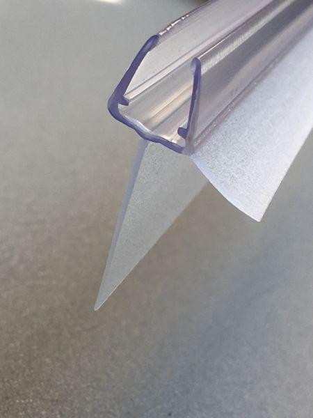 #1003-2 Wasserablaufprofil mit langem Dichtkeder(25mm) für 6+8 mm Glas,2Stück, 1Meter