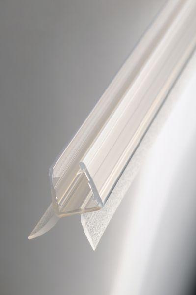 1210 wasserablaufprofil f r 10mm glas l nge 1m transparent duschkabinendichtleisten. Black Bedroom Furniture Sets. Home Design Ideas